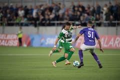 Kriens-Spieler Admir Seferagic am Ball. (Bild: Nadia Schärli (Kriens, 28. September 2018))