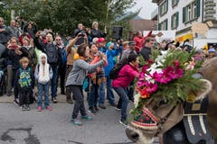 Da werden die Handy gezückt: Zuschauer am Strassenrand. (Bild: Nadia Schärli (Schüpfheim, 29. September 2018))