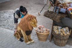 Zum Streicheln und mit nach Hause nehmen: Ein Stand lockte mit Löwensouvenirs aller Art.