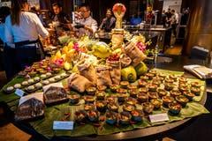 Die Gäste kamen auch kulinarisch voll auf ihre Kosten. (Bild: Philipp Schmidli, 28. September 2018)