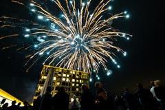 Das Grand Opening des Bürgenstock Hotels & Resort Lake Lucerne endete mit einem Feuerwerk hoch über Luzern. (Bild: Philipp Schmidli, 28. September 2018)