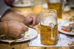 Konstanz (D) - Stimmung und viel Bier am Oktoberfest in Konstanz.