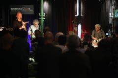 Adam Pieronczyk, Mirislav Vitous und Trilok Gurtu im «Dreiegg». (Bild: Chris Marty/frauenfeld-events.ch)