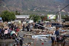 Übersicht der Zerstörung in Talise Beach, Palu. (EPA/Must Irham)