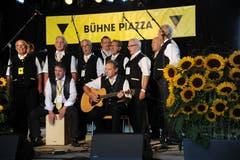 Die Flüeler Sängerknaben bei ihrem Auftritt auf der Hauptbühne. (Bild: Urs Hanhart, Altdorf, 8. September 2018)