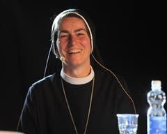 Podium der «Urner Zeitung» mit Imelda Zehnder, Äbtissin des Benediktinerklosters St. Lazarus in Seedorf. (Bild: Urs Hanhart, Altdorf, 8. September 2018)