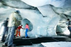 Der Titlisgletscher schmilzt und schmilzt. (Bild: Jakob Ineichen (Engelberg, 24. August 2012))