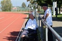 Christian Lohr zusammen mit Medienverantwortlicher Fredi Kurth. (Bild: Maria Keller)