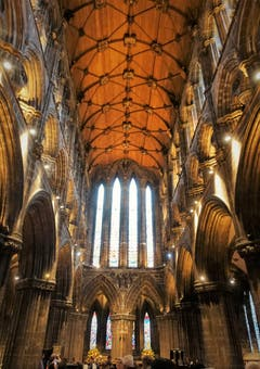 Chorraum der St.Mungo`s Cathedral in Glasgow. (Bild: Josef Habermacher, 8. September 2018)