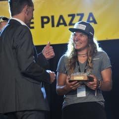 Die Skirennfahrerin Leonie Zopp gewann den Superzehnkampf. (Bild: Urs Hanhart, Altdorf, 9. September 2018)