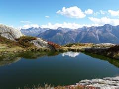 Prächtige Bergkulisse mit Bergsee, aufgenommen zwischen Moosfluh und Bettmeralp. (Bild: Bruno Ringgenberg, 8. September 2018)