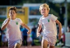 Ein Sprint gehört ebenso zum Programm der Nationalturner.