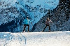 In Engelberg kann man dort langlaufen, wo sich die Schweizer Langlauf-Elite misst. (Bild: Engelberg Tourismus)