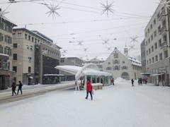 Calatrava im Schnee. (Bild: Reto Voneschen - 10. Januar 2019)