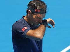 Roger Federer ist am Australian Open in Melbourne seit 14 Spielen ungeschlagen (Bild: KEYSTONE/EPA AAP/DAVID CROSLING)