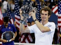 Seinen ersten von drei Grand-Slam-Titeln feierte Murray 2012 am US Open. Im Final bezwang der Schotte Novak Djokovic in fünf Sätzen (Bild: KEYSTONE/AP/MIKE GROLL)