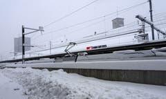 Der Winter ist pünktlich angekommen, aufgenommen am Bahnhof St. Gallen. (Bild: Doris Sieber)