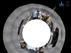360 Grad-Ansicht vom Mondgefährt der chinesischen Raumfahrtmission auf der erdabgewandten Seite des Mondes. (Bild: KEYSTONE/EPA CNSA/CNSA HANDOUT)