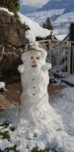 Wie wär's mit einem Schneebär... (Bild: Caja Windlin Herzog (Obwalden, 11. Januar 2019))