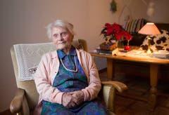 Ihr hohes Alter glaubt Alice Schaufelberger der vielen Arbeit zu verdanken. (Bild: Hans-Peter Breiter)