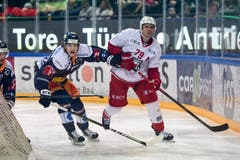 Sven Senteler (Zug) gegen Joel Genazzi (Lausanne). (Bild: Daniela Frutiger/Freshfocus)