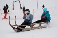 Simone Reichmuth und Elian Horat aus Schwyz waren eines von sieben Frauenteams. (Bild: Eveline Beerkircher (Sattel, 12. Januar 2019))