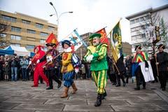 Traditionell findet die Inthronisation des Gallivaters auf dem Dorfplatz in Kriens statt. (Bild: Roger Grütter, Kriens, 12. Januar 2018)