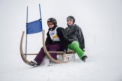 Mit dabei waren auch Moni Bachmann und Heidi Anbauen. (Bild: Eveline Beerkircher (Sattel, 12. Januar 2019))