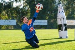 Torhüter David Zibung im Training. (Bild: Martin Meienberger/Freshfocus (Marbella, 12. Januar 2019))