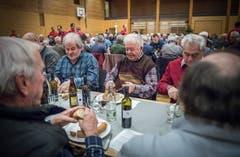 """In der Mehrzweckhalle Weitsicht in Märstetten fand der traditionelle """"Hiläri"""" statt. (Bild: Andrea Stalder)"""