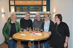 Vereinspräsident Danny Lüthi (Zweiter von links) in illustrer Runde am Freitagabend beim Sponsoren- und Supporterapéro.