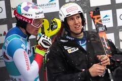 Daniel Yule (8. Platz) und Ramon Zenhäusern (5. Platz). (Bild: Keystone/Jean-Christophe Bott (13. Januar 2019))