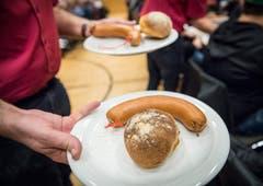 In der Mehrzweckhalle Weitsicht in Märstetten fand der traditionelleHiläri statt. (Bild: Andrea Stalder)