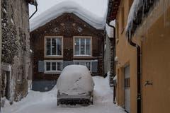 Dieses Auto fährt so nirgendwo mehr hin. (Bild: Nadia Schärli (Andermatt, 14. Januar 2019))