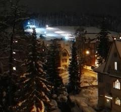 Nachtskifahren an der Beckenhalde in St.Georgen. (Bild: Werner Bosshard-Ryder - 12. Januar 2019)