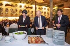 Das Buffet in der Lokremise ist eröffnet. (Bild: Urs Bucher, 15. Januar 2019)