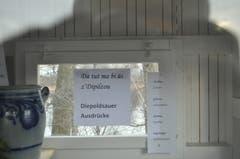 Mini-Ausstellung: Der Rheintaler-Dialekt für Anfänger.