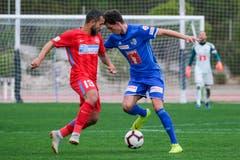 Shkelqim Demhasaj (rechts) gegen Junior Morais. (Bild: Martin Meienberger (Coin Malaga, 17. Januar 2019))