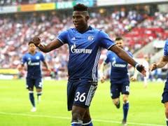 Statt um die Europacup-Plätze mitzuspielen steckt Breel Embolo mit Schalke 04 im Abstiegskampf. Die Reserve auf Platz 16 beträgt momentan bloss vier Punkte (Bild: KEYSTONE/EPA/FRIEDEMANN VOGEL)