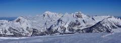 Chäserrugg: Frisch verschneite Alpstein Südseite. (Bild: Toni Sieber)