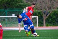 Tomic Juric (vorne) gegen Dragos Nedelcu. (Bild: Martin Meienberger (Coin Malaga, 17. Januar 2019))