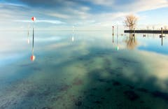 Morgendliche Ruhe am Bodensee in Staad. (Bild: Thomas Staub)