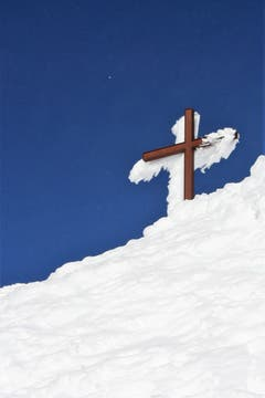 Das Kreuz auf dem Säntisgipfel (Bild: Vreni Tanner)