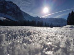 Schneekristalle auf der Schwägalp. (Bild: Agnes Aepli)