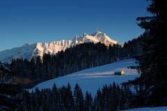 Auf einer Schneewanderung Richtung Hochalp. (Bild: Thomas Ammann)