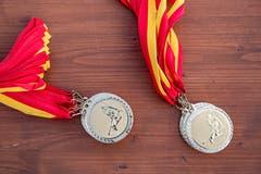 Die Medaillen für die erfolgreichen Teilnehmer am 16. St.Geörgler Kinderskirennen vom Sonntag.