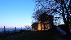 Das Schloss Dottenwil in Winterruhe. (Bild: Walter Schmidt)