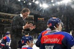 ZSC-Trainer Arno Del Curto hat Grund zum Ärger nach einer verpassten Chance seines Teams. (Bild: Patrick Straub/Freshfocus (Zürich, 25. Januar 2019))