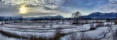 Winterlandschaft bei Altstätten. (Bild: Toni Sieber)