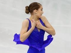Alexia Paganini zeigte in der Kür Nerven (Bild: KEYSTONE/AP/SERGEI GRITS)
